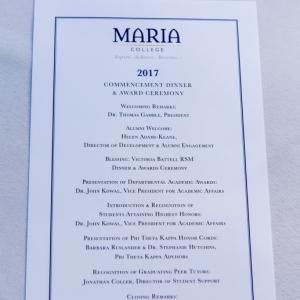 2017 Commencement Dinner