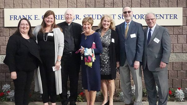 Group photo from Frank E. O'Brien Student Support Center Dedication