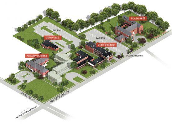 Maria Campus map