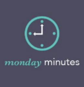 Monday Minutes icon - blue clock