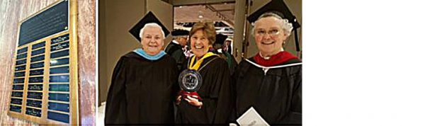 McAuley Award 2016 - three women holding the award