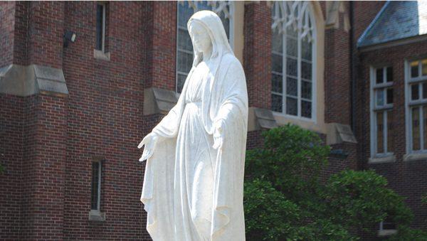 Marian Hall statue