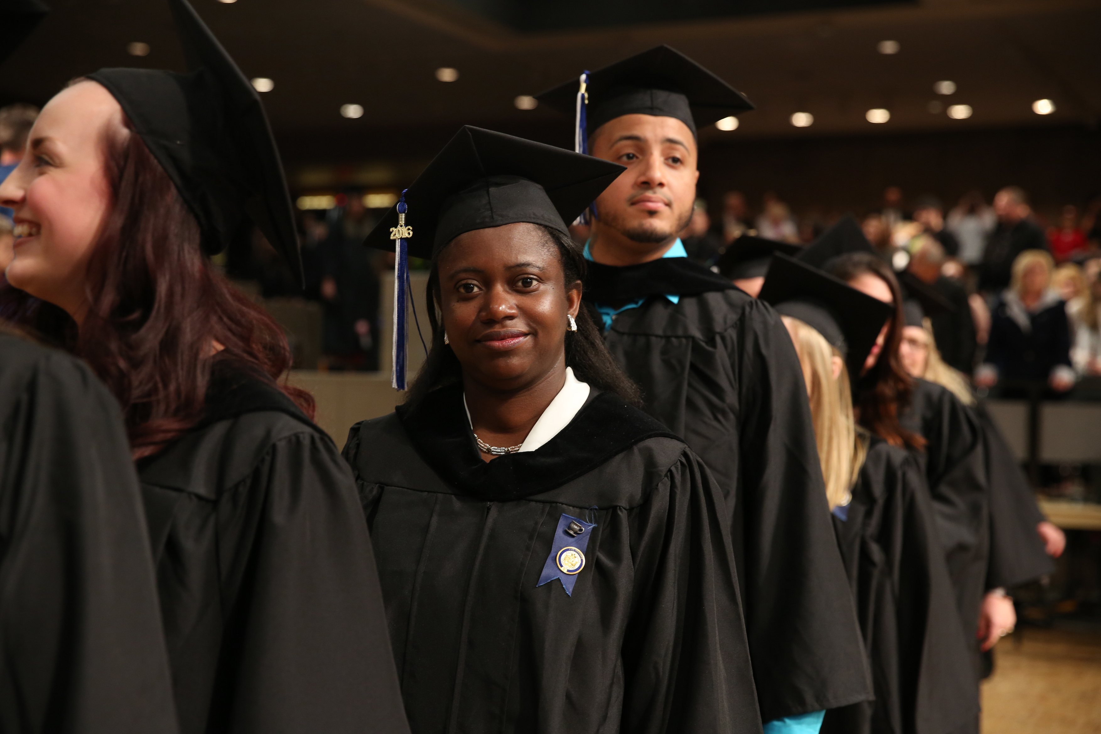 Commencement 2016 students wearing regalia