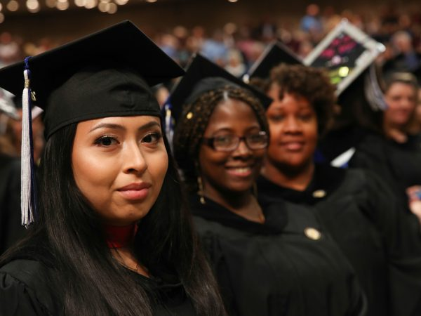 Commencement 2017 students wearing regalia