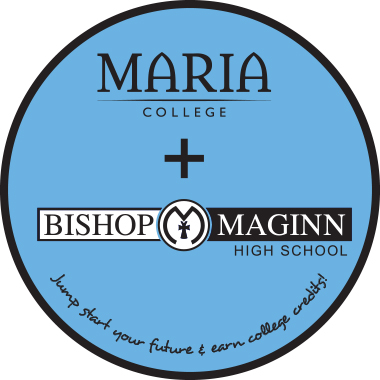 Maria College & Bishop Maginn High School partnership logo