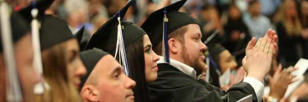 Commencement 2017 students clapping