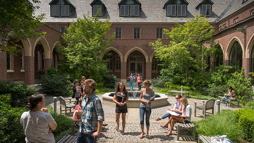 Maria College courtyard