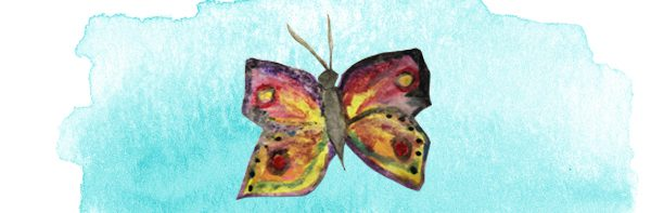 watercolor butterfly painted by Holly West