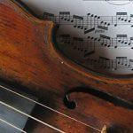 violin on sheet music