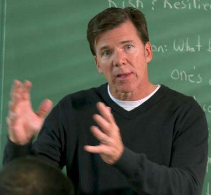 Peter Byrne teaches a psychology class