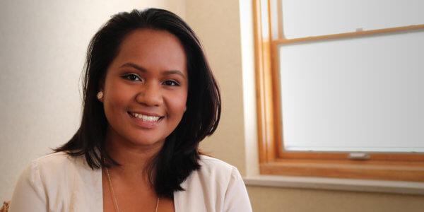 Healthcare Management student Pauline Mojica