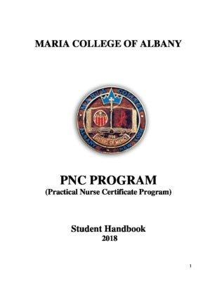 PNC student handbook - Maria College