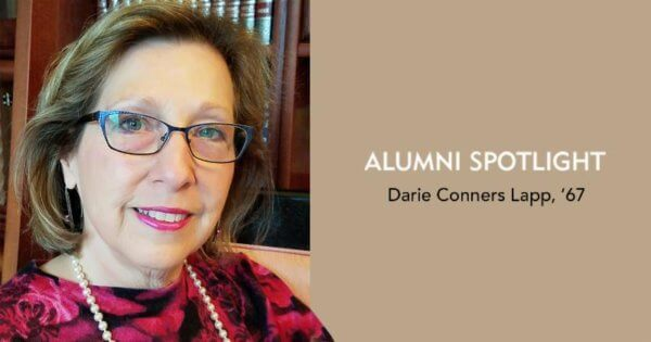 alumni Darie Connors Lap