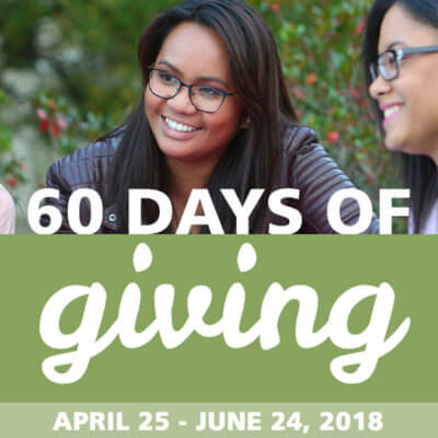 student smiling 60 days of giving