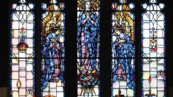 Stained Glass Window in the Chapel at Maria College