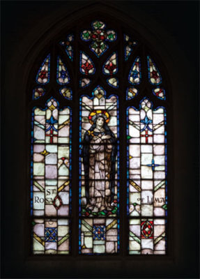 Stained Glass Window: St Rose of Lima
