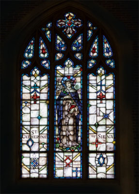 Stained Glass Window: St Catherine of Siena