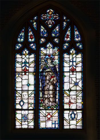 Stained Glass Window: St Catherine of Siena