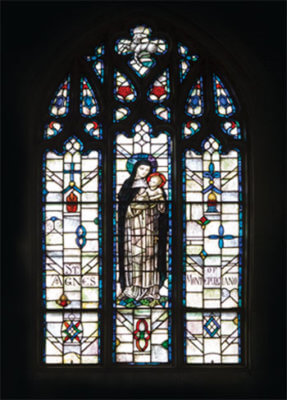Stained Glass Window: St Agnes of Montepulciano