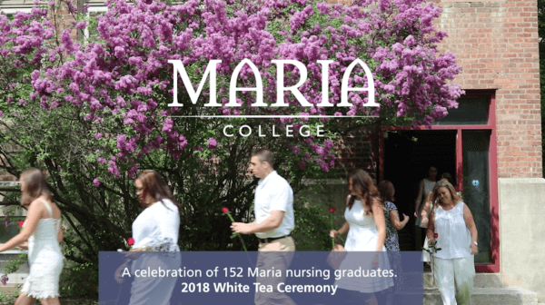 Nursing graduates at the White Tea Ceremony