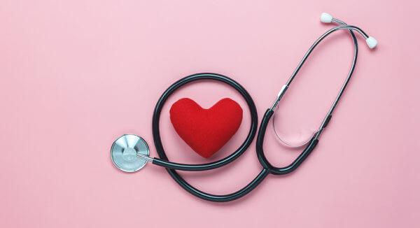 plush heart and stethoscope