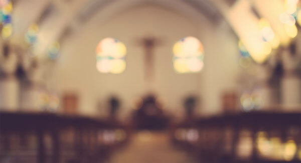 blurred image of inside a chapel