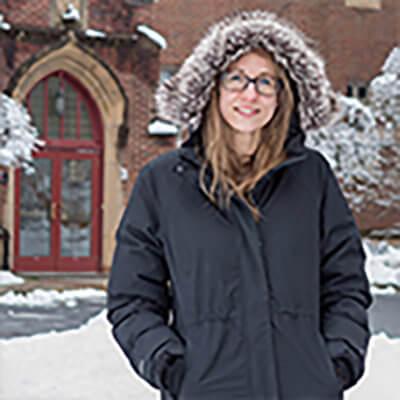 Siena Faculty Member in Parka