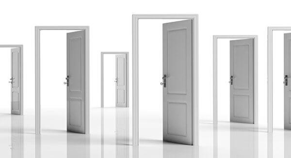 Series of White Doors