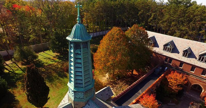 college steeple at Marian Hall